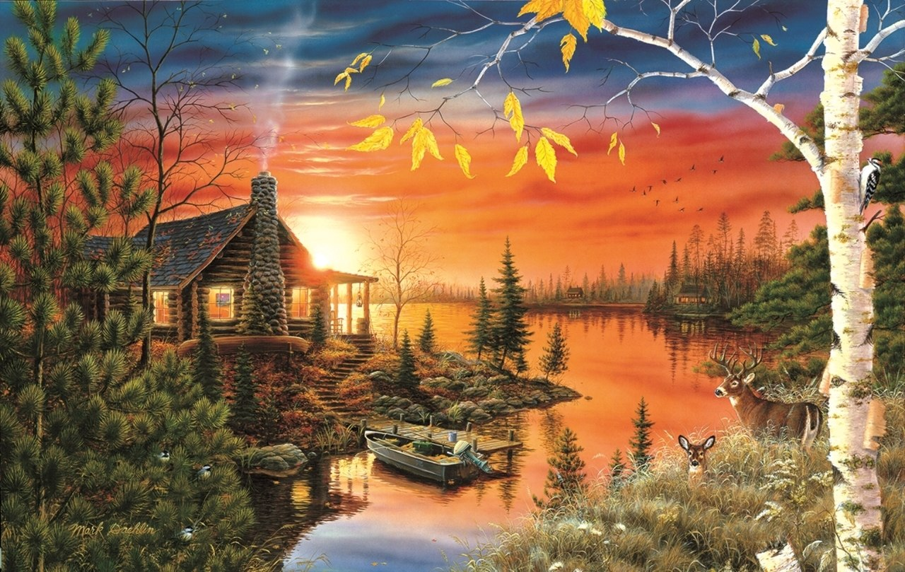 Autumn Evening - 550pc Jigsaw Puzzle By Sunsout  			  					NEW