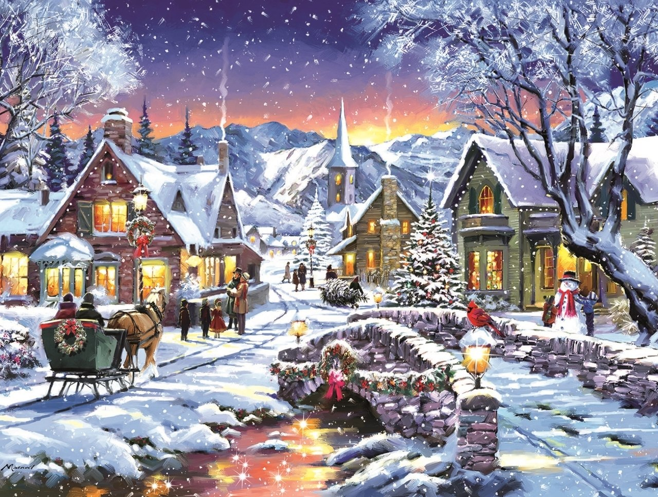 Tinsel Town - 300pc Jigsaw Puzzle By Sunsout  			  					NEW