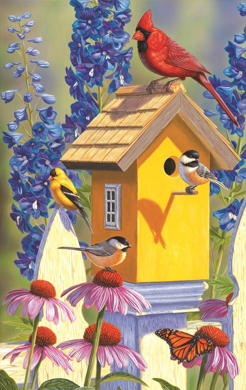 The Yellow Birdhouse - 550pc Jigsaw Puzzle By Sunsout  			  					NEW