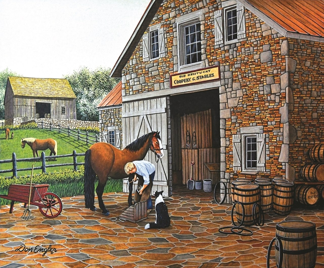 Coppery and Stables - 1000pc Jigsaw Puzzle By Sunsout  			  					NEW