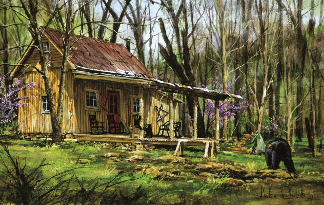 Mark's Cabin - 550pc Jigsaw Puzzle By Sunsout  			  					NEW