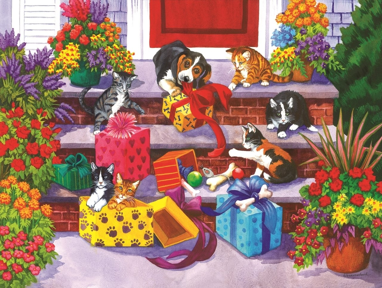 Time for Toys and Treats - 300pc Jigsaw Puzzle By Sunsout  			  					NEW