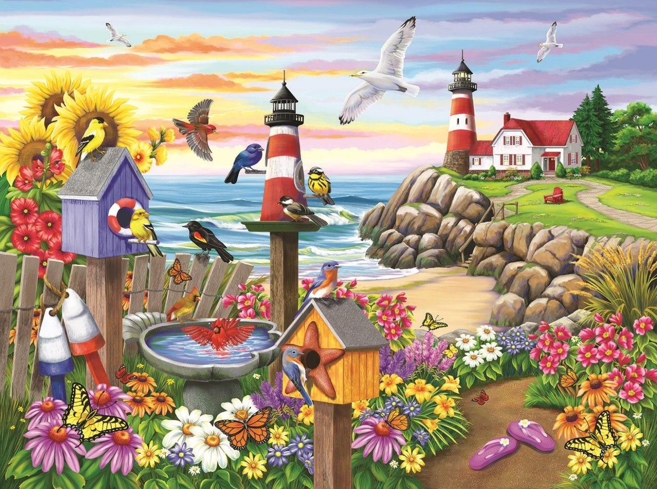 Garden by the Sea - 1000pc Jigsaw Puzzle By Sunsout  			  					NEW