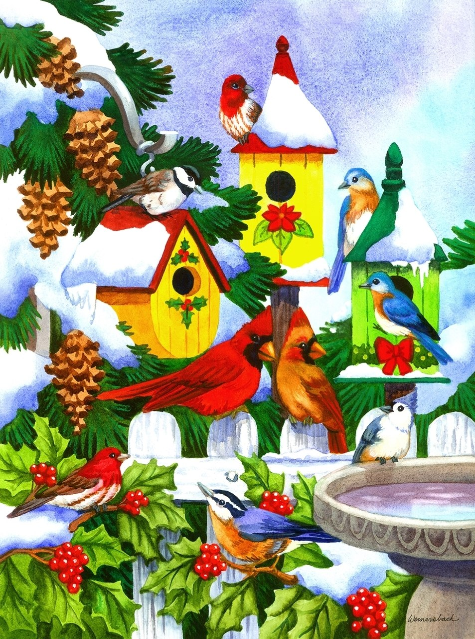 Winter Birdhaven - 500+pc Jigsaw Puzzle By Sunsout  			  					NEW