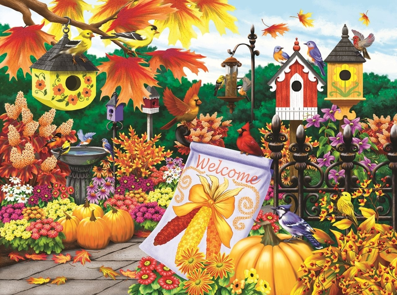 Welcome Autumn - 300pc Jigsaw Puzzle By Sunsout  			  					NEW