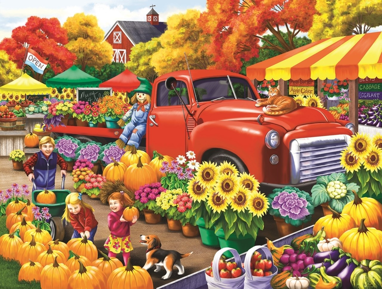 Marketplace - 300pc Jigsaw Puzzle By Sunsout  			  					NEW