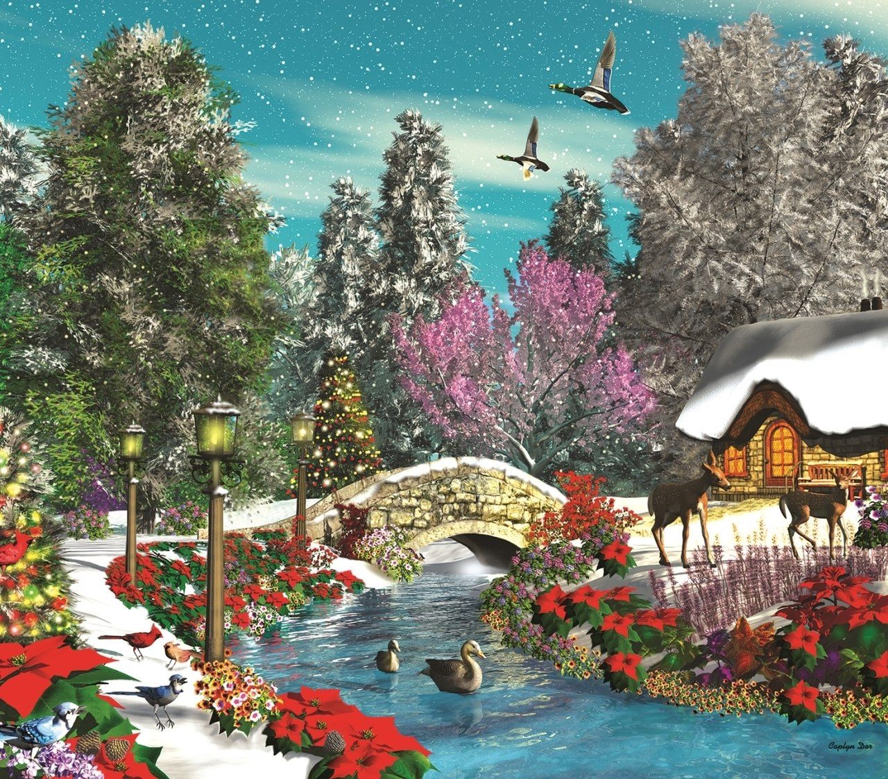 Season's Beauty - 300pc Jigsaw Puzzle By Sunsout  			  					NEW