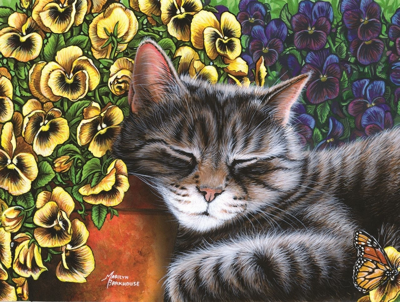 Garden Nap - 300pc Jigsaw Puzzle By Sunsout  			  					NEW