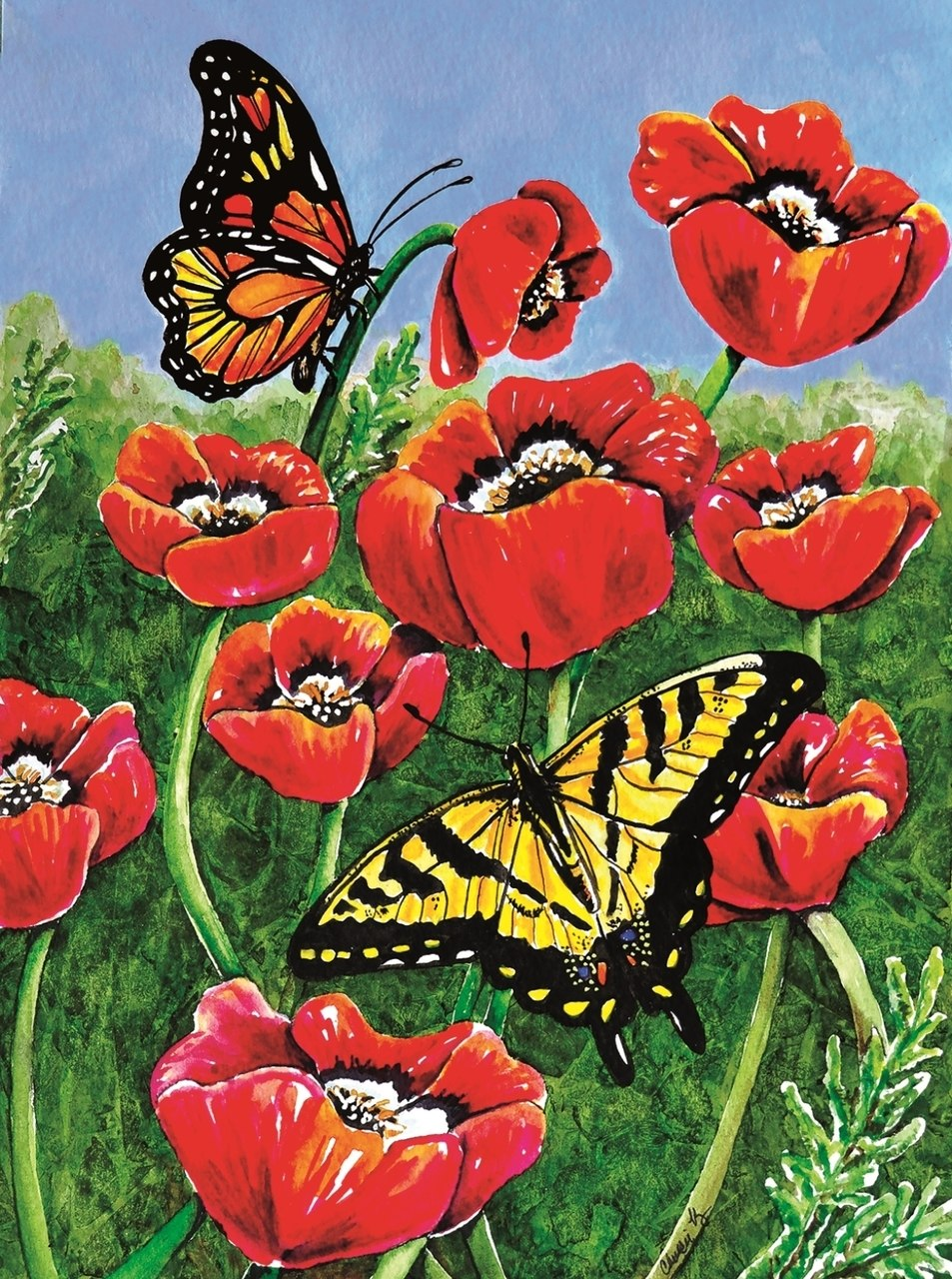 Monarch & Swallowtail - 1000pc Jigsaw Puzzle By Sunsout  			  					NEW