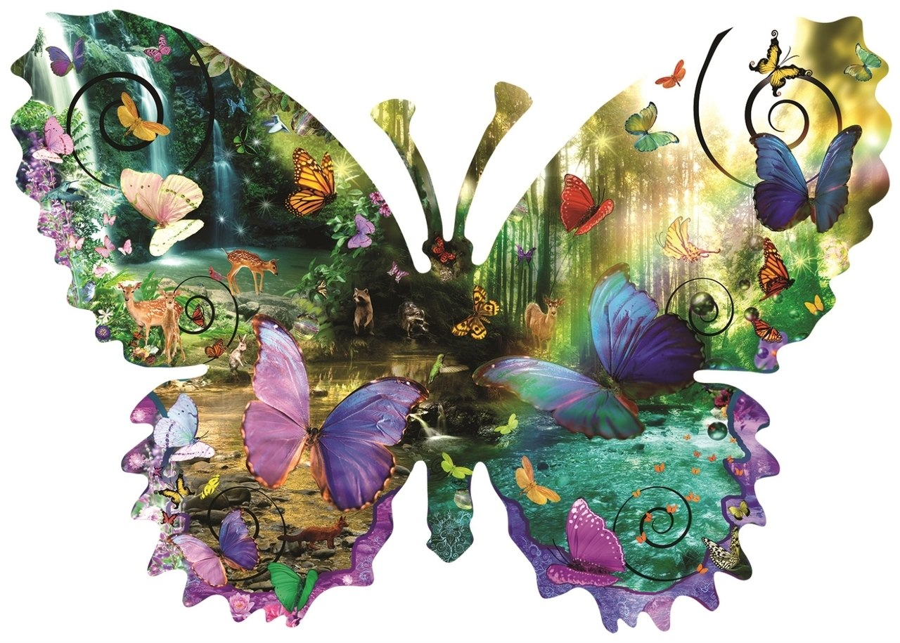 Forest Butterfly - 1000pc Jigsaw Puzzle By Sunsout  			  					NEW