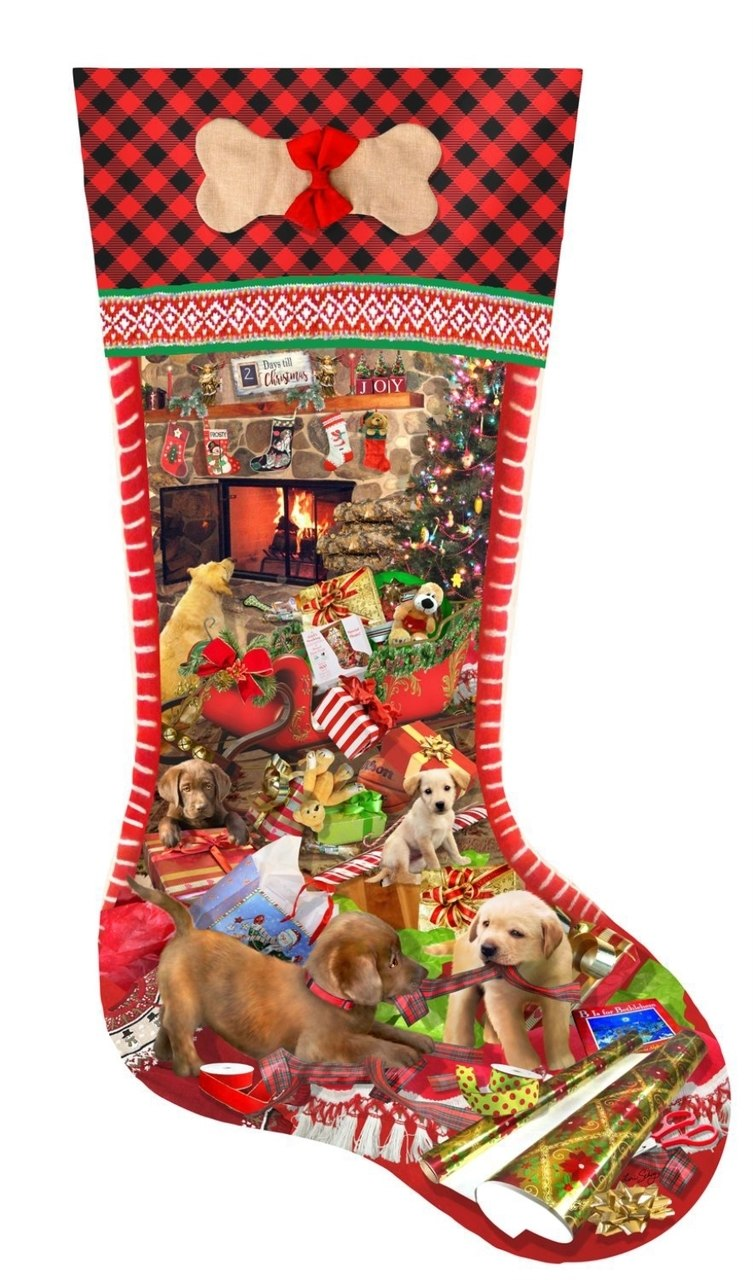 Puppy Stocking - 1000pc Jigsaw Puzzle By Sunsout  			  					NEW