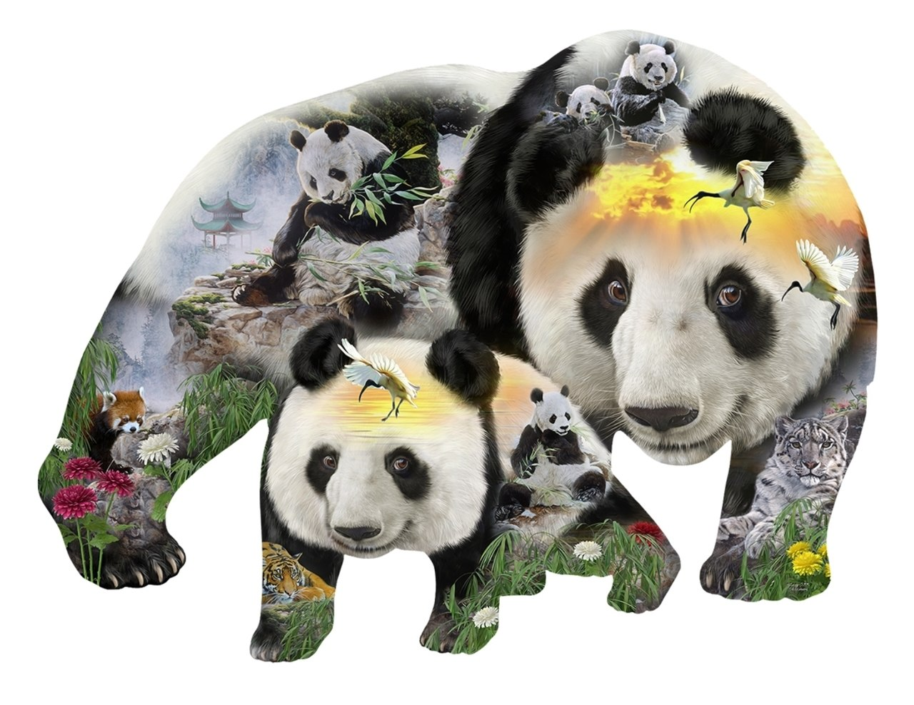Panda-Monuim - 1000pc Jigsaw Puzzle By Sunsout  			  					NEW