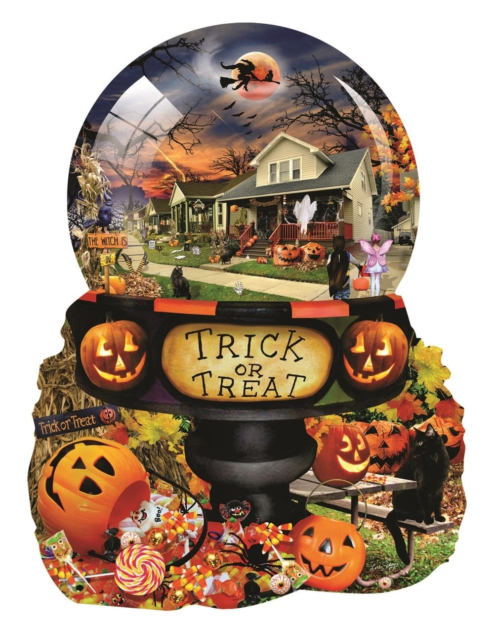 Halloween Globe - 1000pc Jigsaw Puzzle By Sunsout  			  					NEW