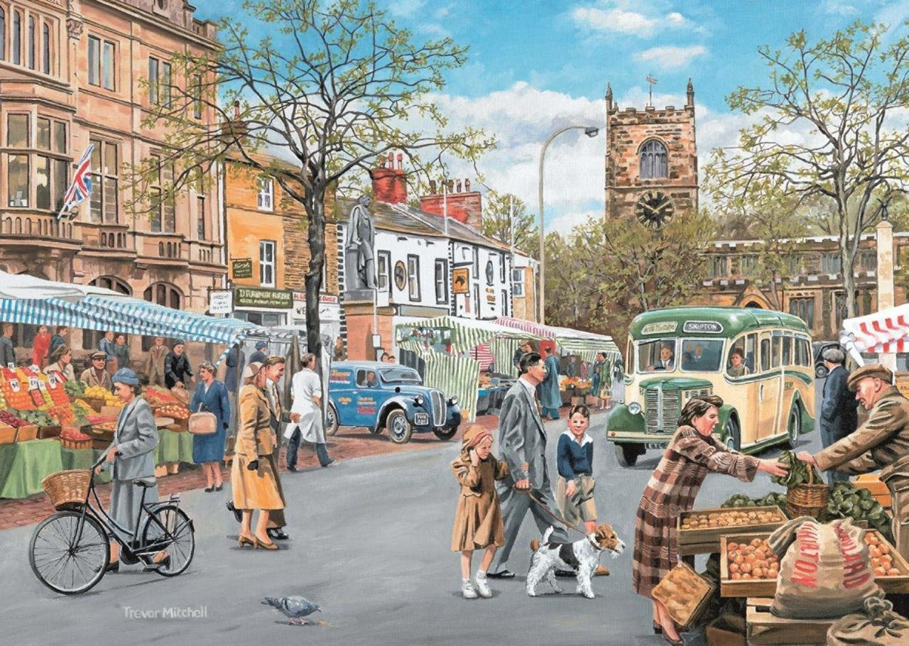 Skipton Market - 500pc Jigsaw Puzzle By Falcon  			  					NEW
