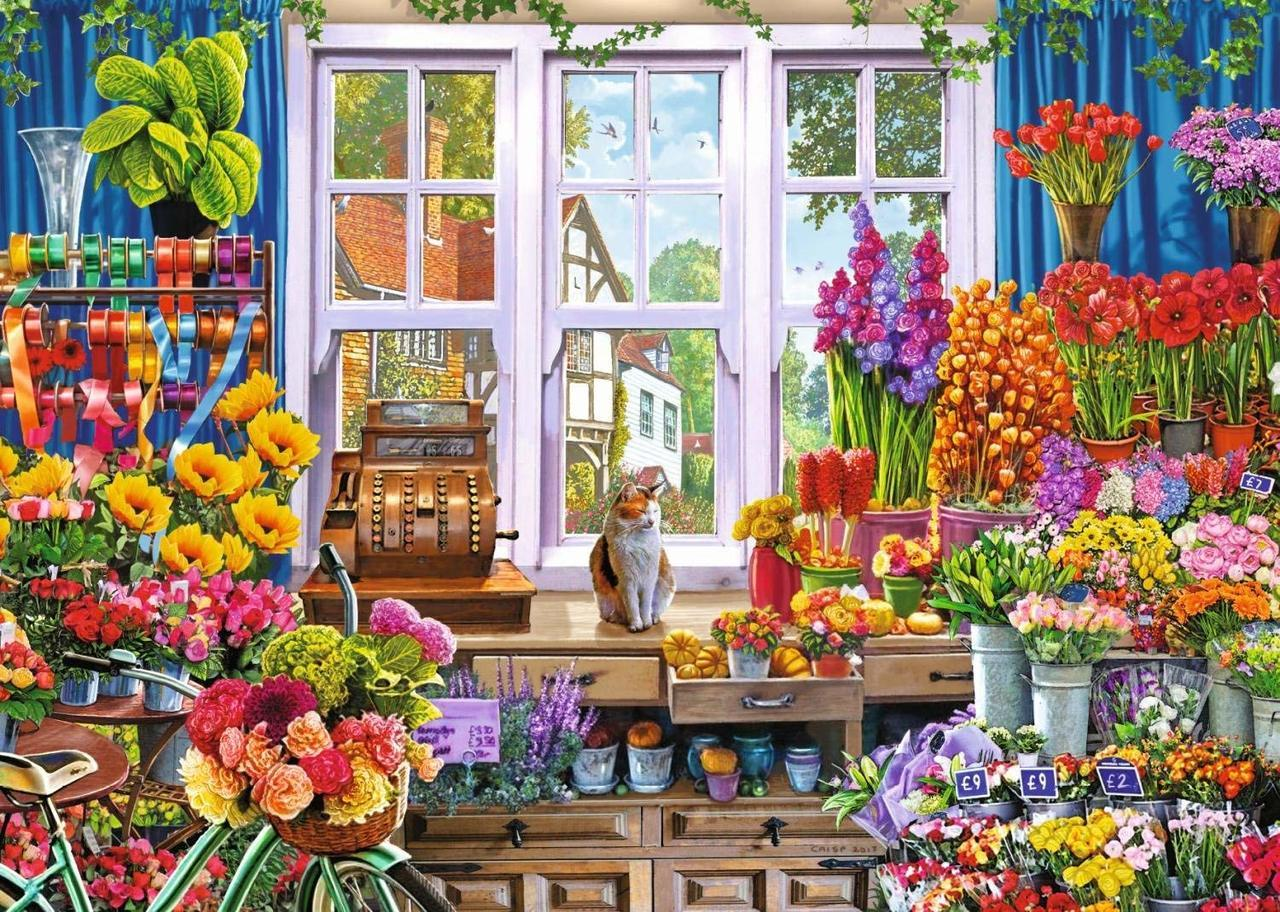 Flora's Flower Shoppe - 1000pc Jigsaw Puzzle By Falcon  			  					NEW