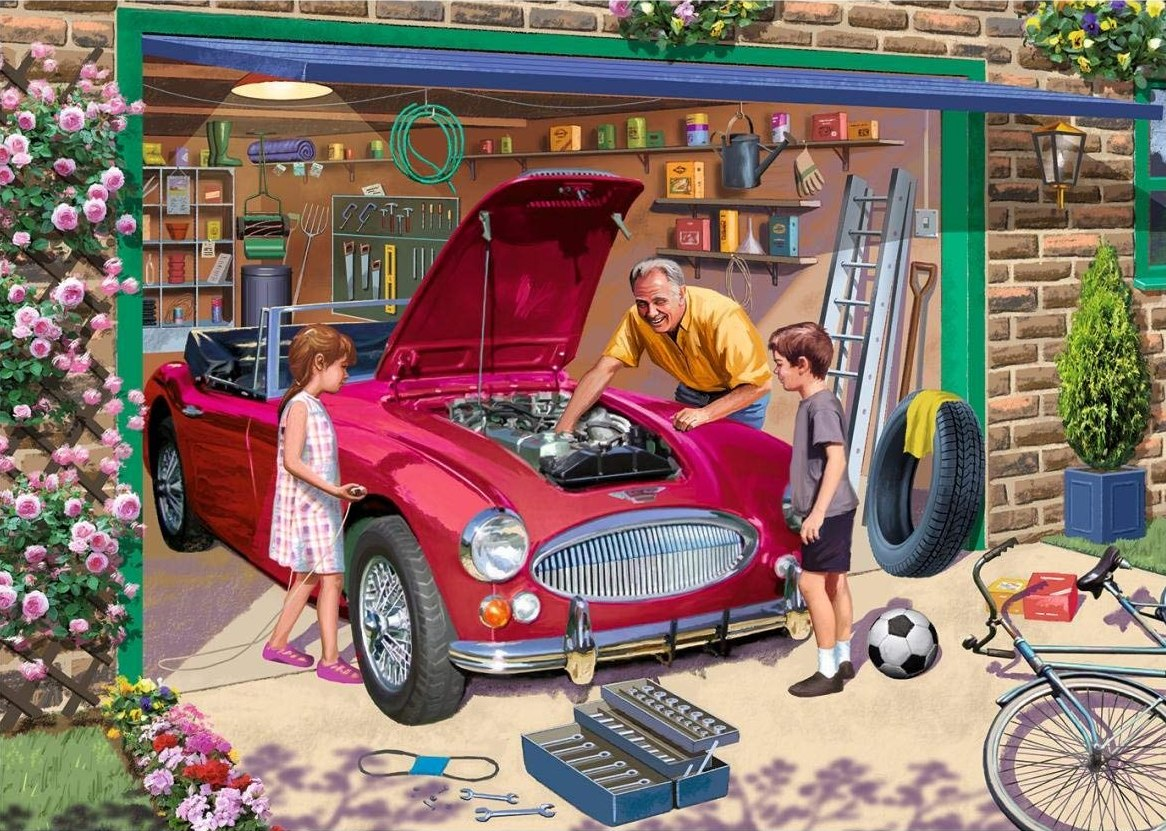 Grandad's Garage - 500pc Jigsaw Puzzle By Falcon  			  					NEW