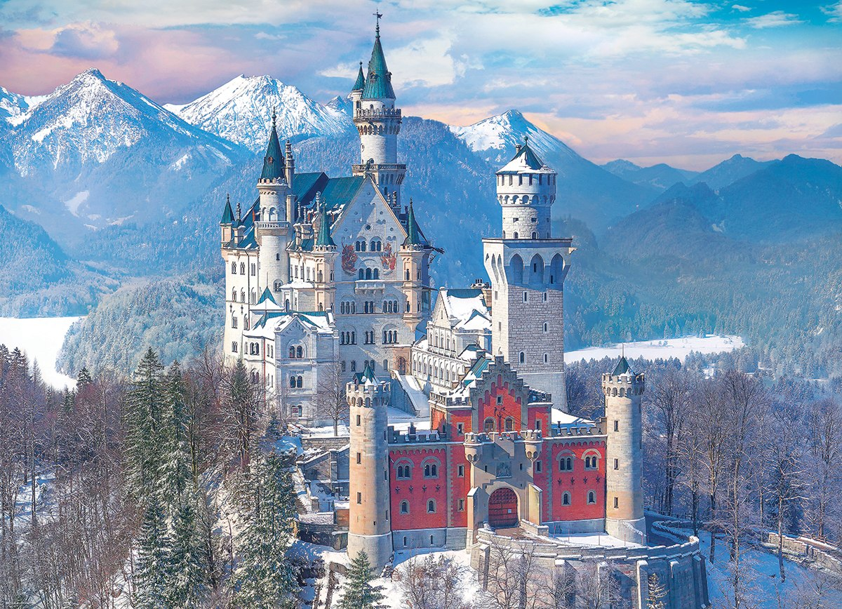 Neuschwanstein Castle in the Winter - 1000pc Jigsaw Puzzle by Eurographics  			  					NEW