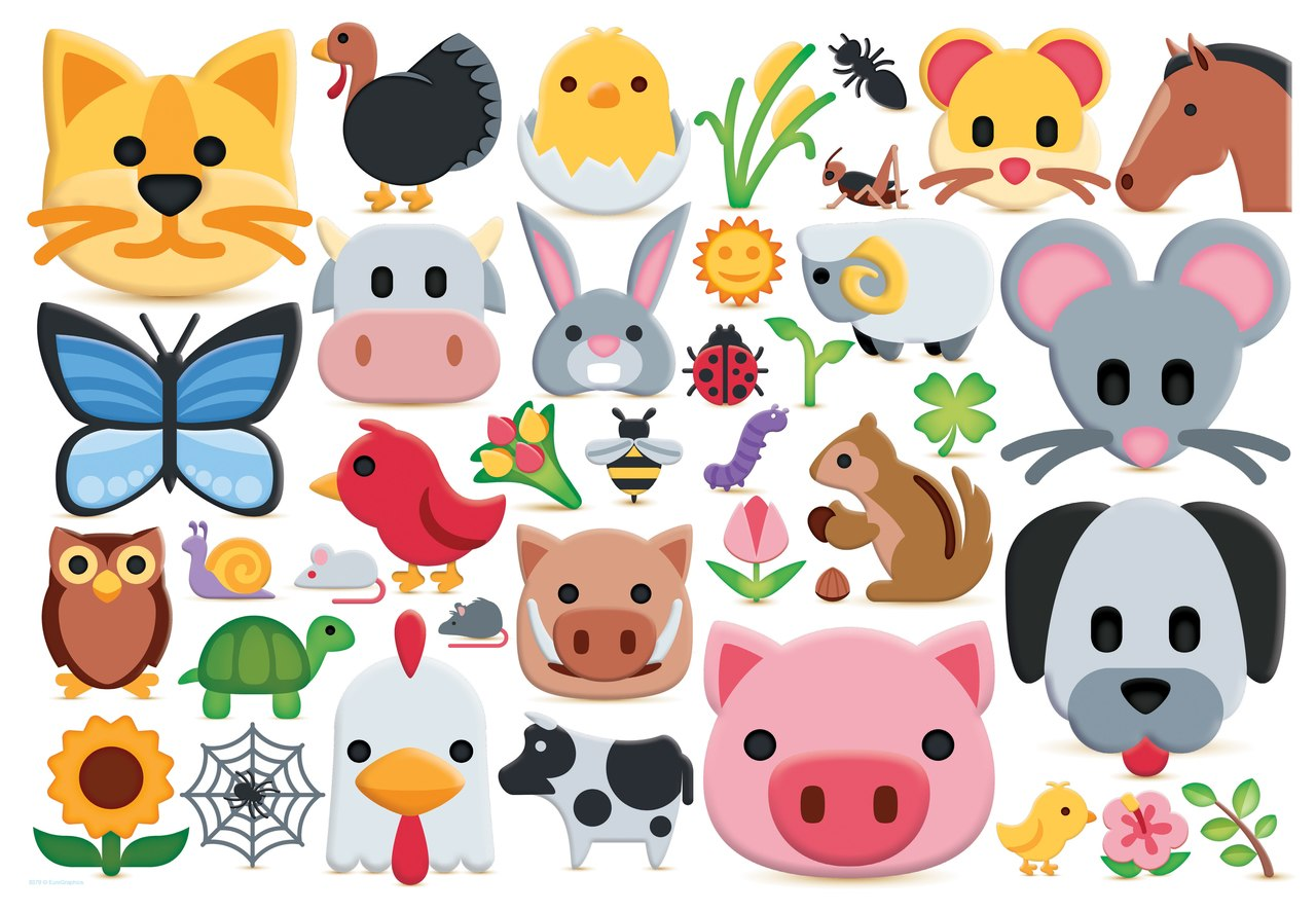 Emojipuzzle: Farm Animals - 100pc Jigsaw Puzzle by Eurographics  			  					NEW
