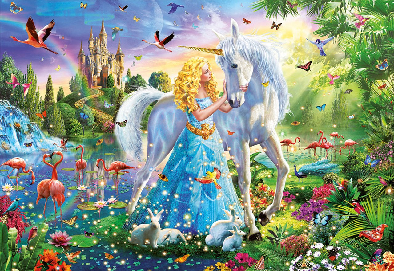 The Princess and the Unicorn - 1000pc Jigsaw Puzzle by Educa  			  					NEW