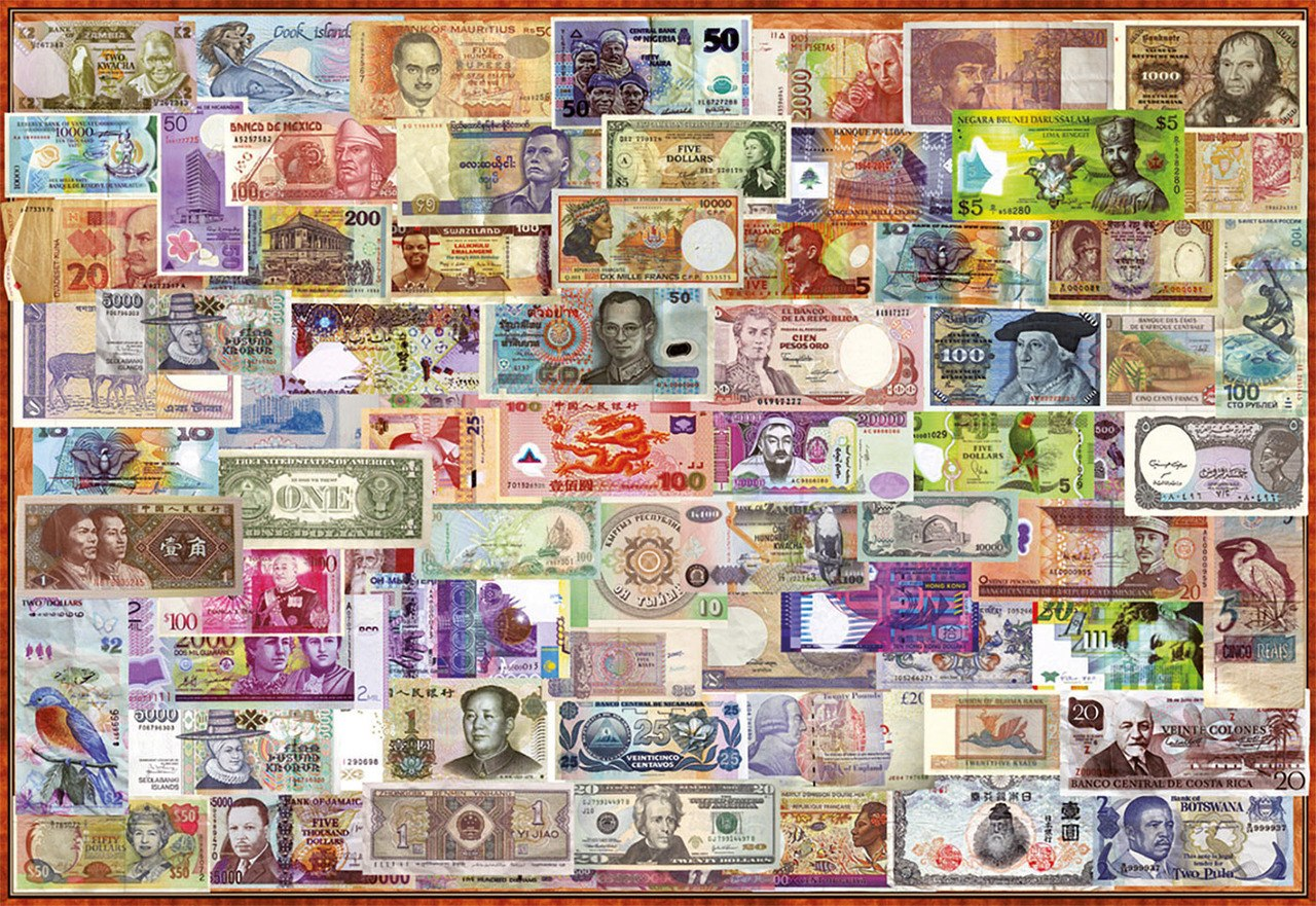 World Banknotes - 1000pc Jigsaw Puzzle by Educa  			  					NEW