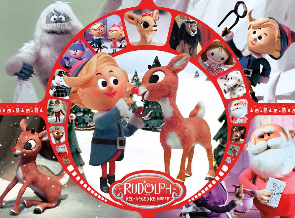 Rudolph Collage - 500pc Jigsaw Puzzle by Aquarius  			  					NEW