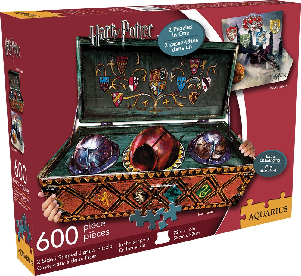 Harry Potter: Quidditch Set - 600pc Double-sided Shaped Jigsaw Puzzle by Aquarius  			  					NEW