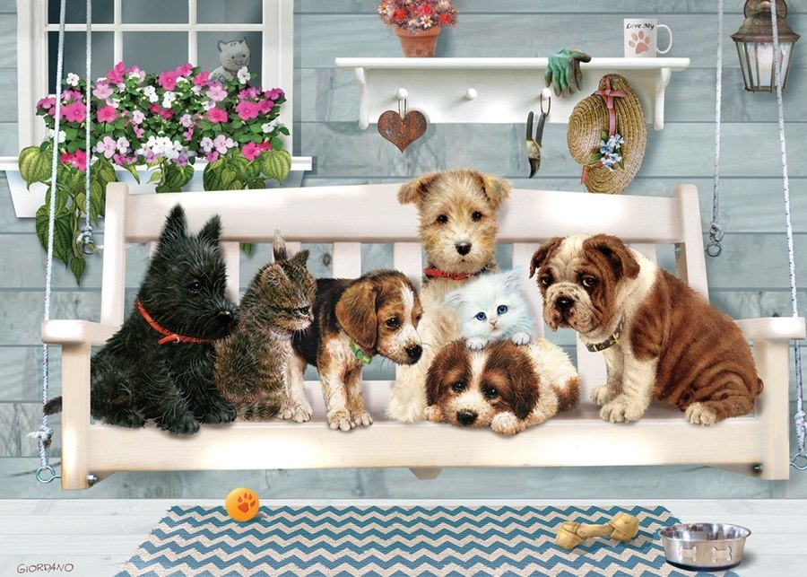 Porch Swing Buddies - 35pc Tray Puzzle by Cobble Hill  			  					NEW