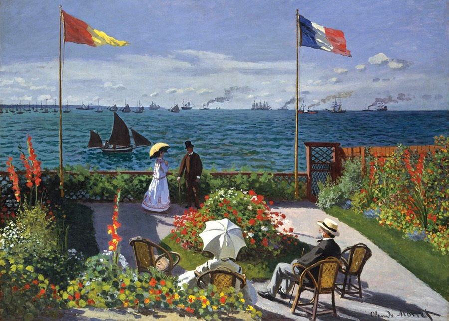 Monet: Garden at Sante-Adresse - 1000pc Jigsaw Puzzle By D-Toys  			  					NEW