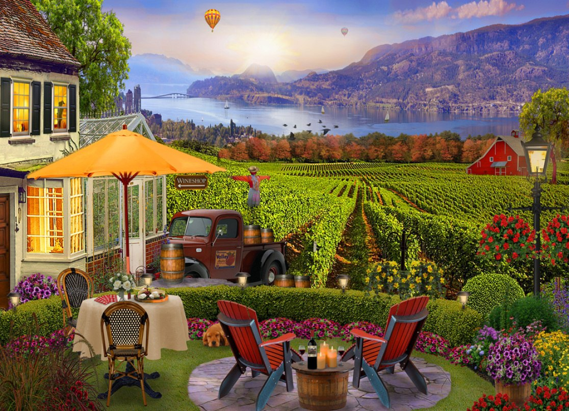Wine Country - 1000pc Jigsaw Puzzle by Vermont Christmas Company  			  					NEW