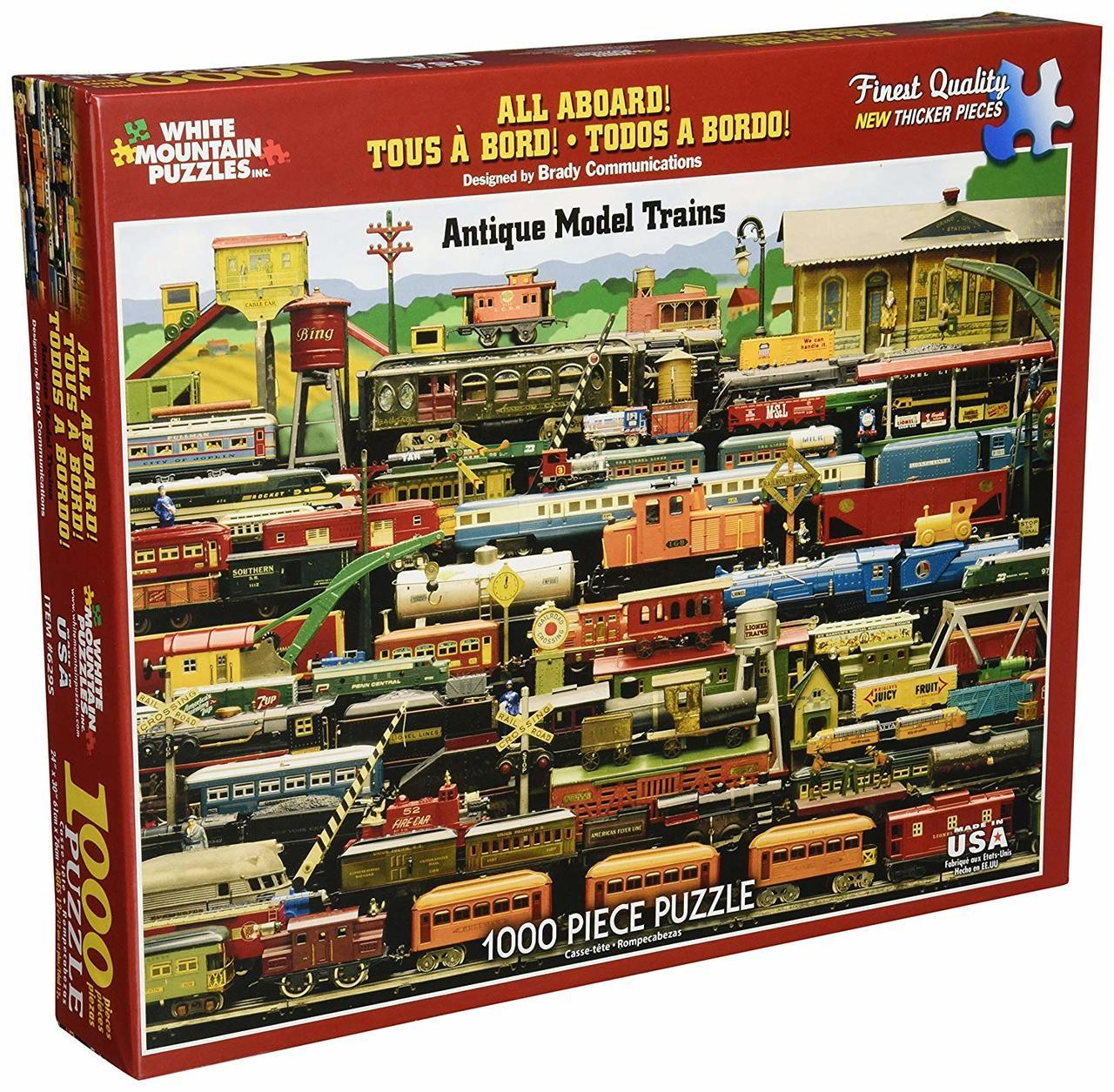 All Aboard - 1000pc Jigsaw Puzzle by White Mountain  			  					NEW