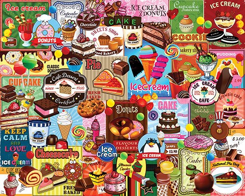Sweet Treats - 1000pc Jigsaw Puzzle by White Mountain  			  					NEW
