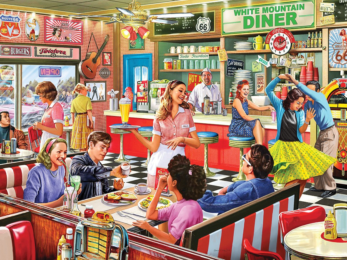 American Diner - 1000pc Jigsaw Puzzle by White Mountain  			  					NEW