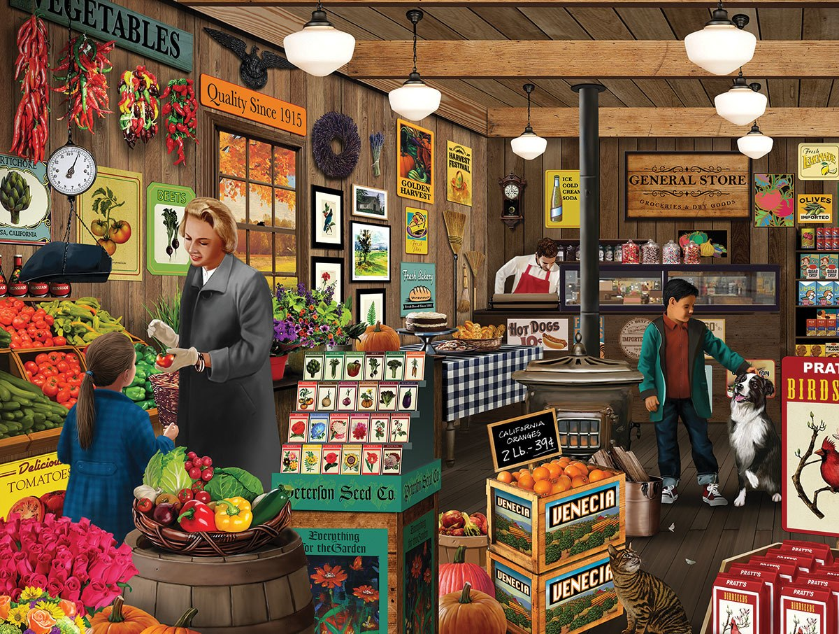 Local Market - 1000pc Jigsaw Puzzle By White Mountain  			  					NEW