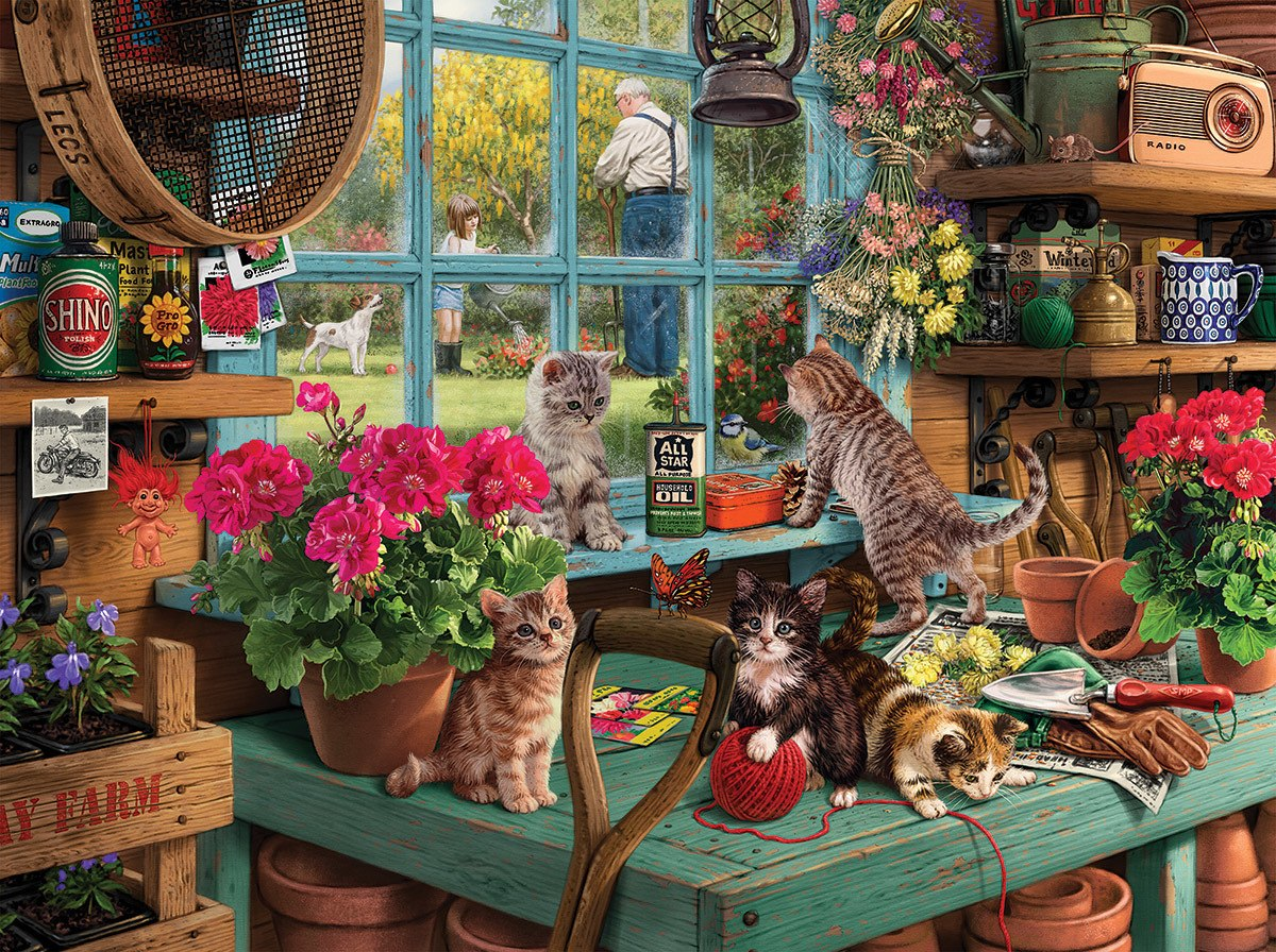 Curious Kittens - 1000pc Jigsaw Puzzle By White Mountain  			  					NEW