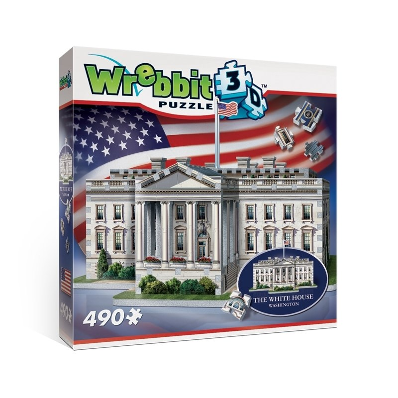 The White House - 490pc 3D Puzzle by Wrebbit  			  					NEW