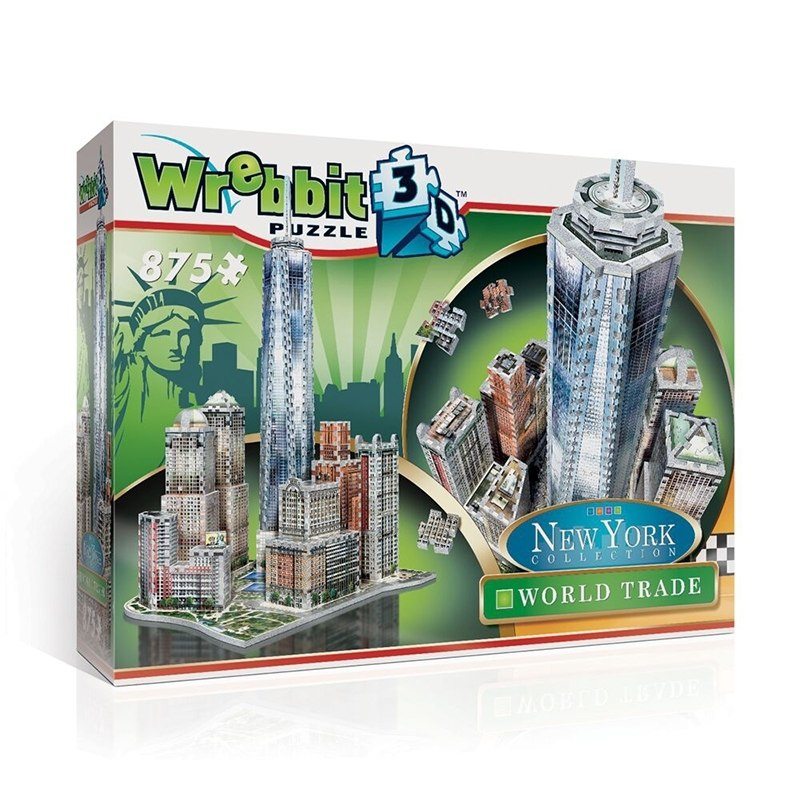 World Trade - 875pc 3D Puzzle by Wrebbit  			  					NEW