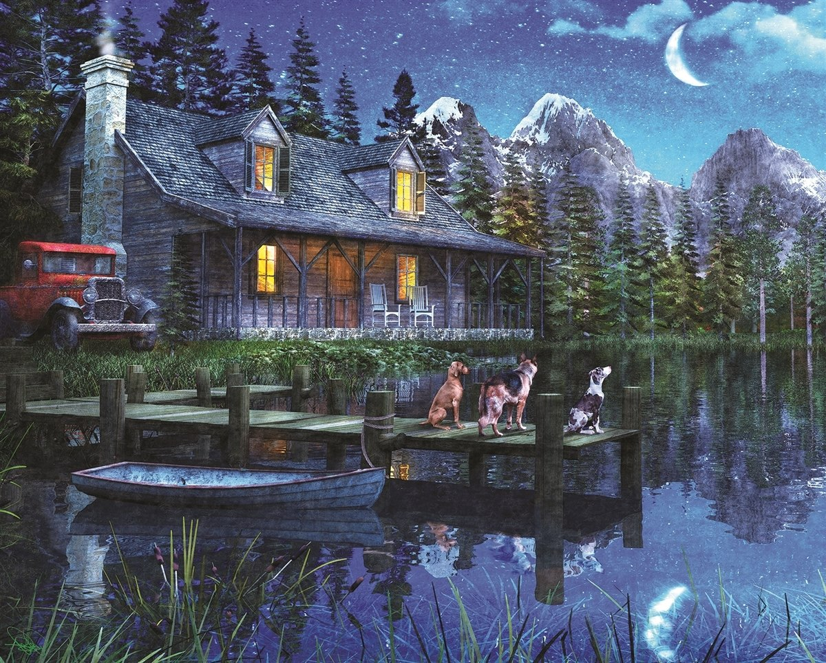 Moonlit Night - 1000pc Jigsaw Puzzle By Springbok  			  					NEW