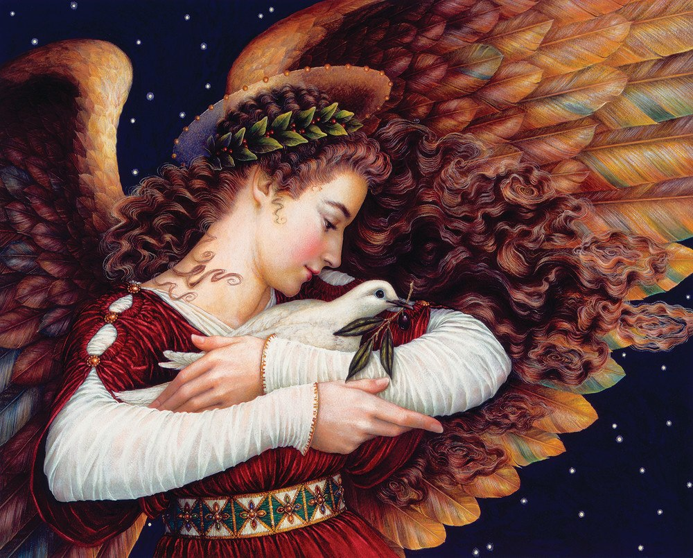 Angel and Dove - 1000pc Jigsaw Puzzle By Springbok  			  					NEW