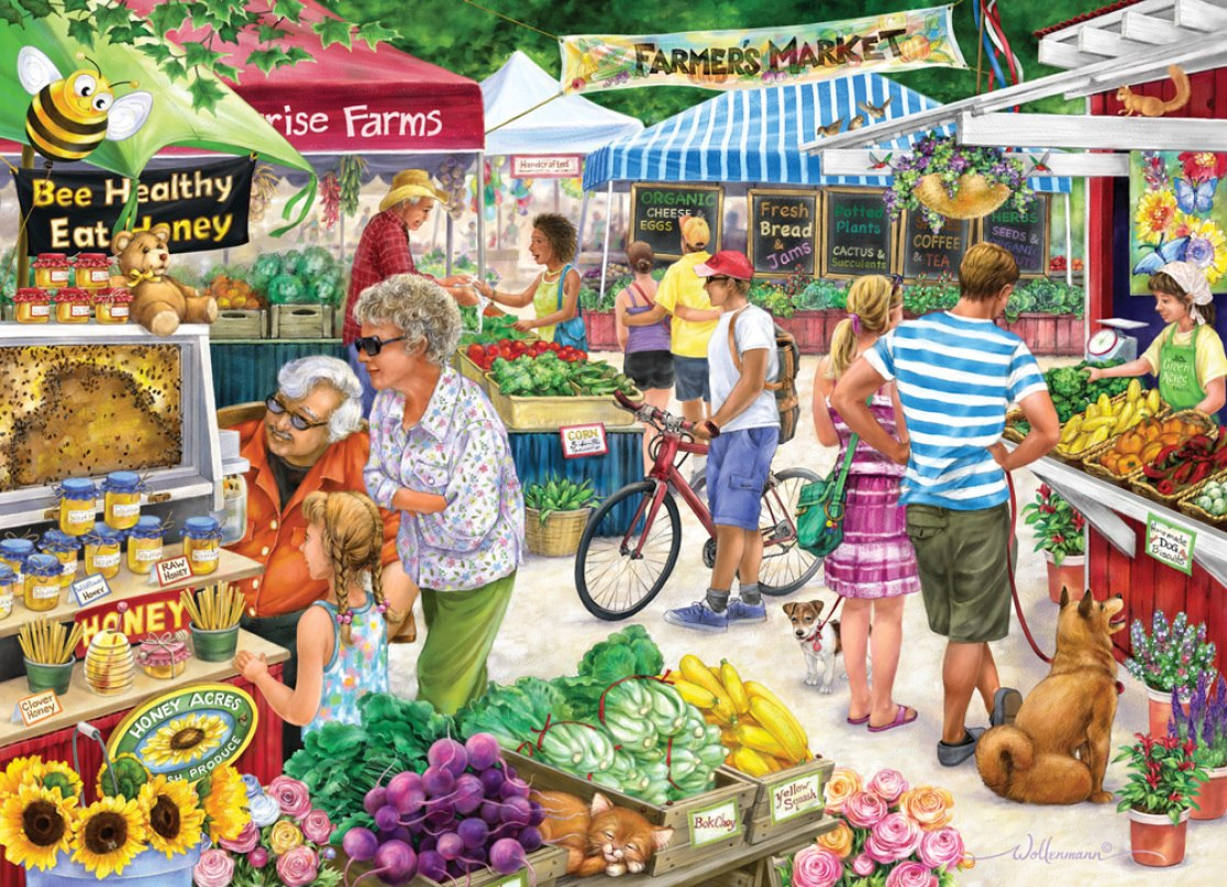 Farmer's Market - 1000pc Jigsaw Puzzle by Vermont Christmas Company  			  					NEW