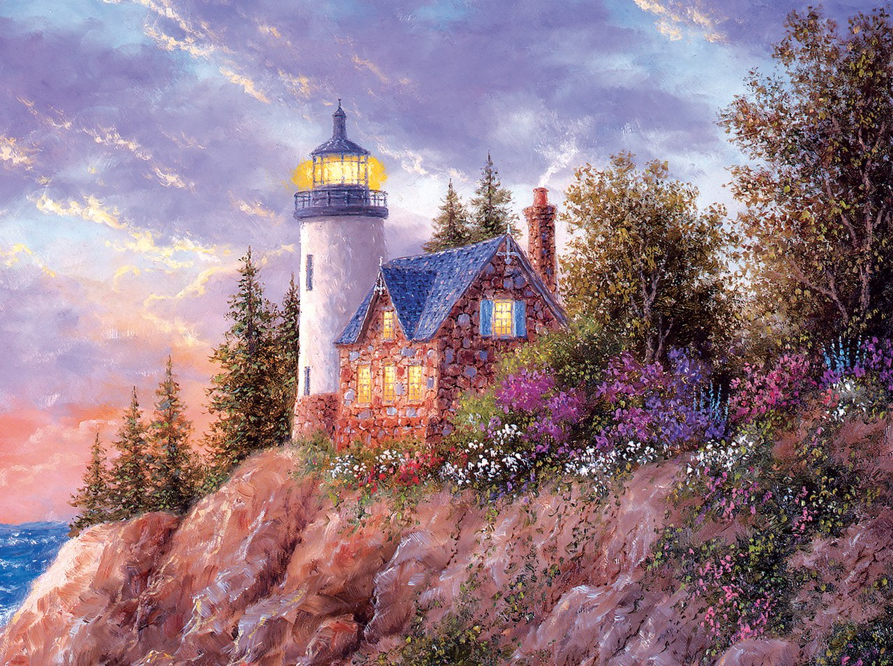 Beacon to the Sea - 1000pc Jigsaw Puzzle By Sunsout  			  					NEW
