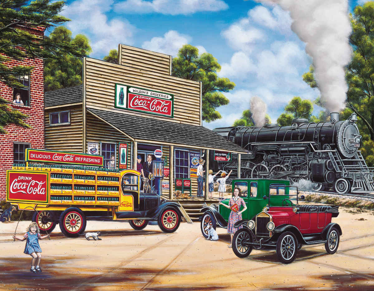 All Aboard - 1000pc Coca-Cola Jigsaw Puzzle by Springbok