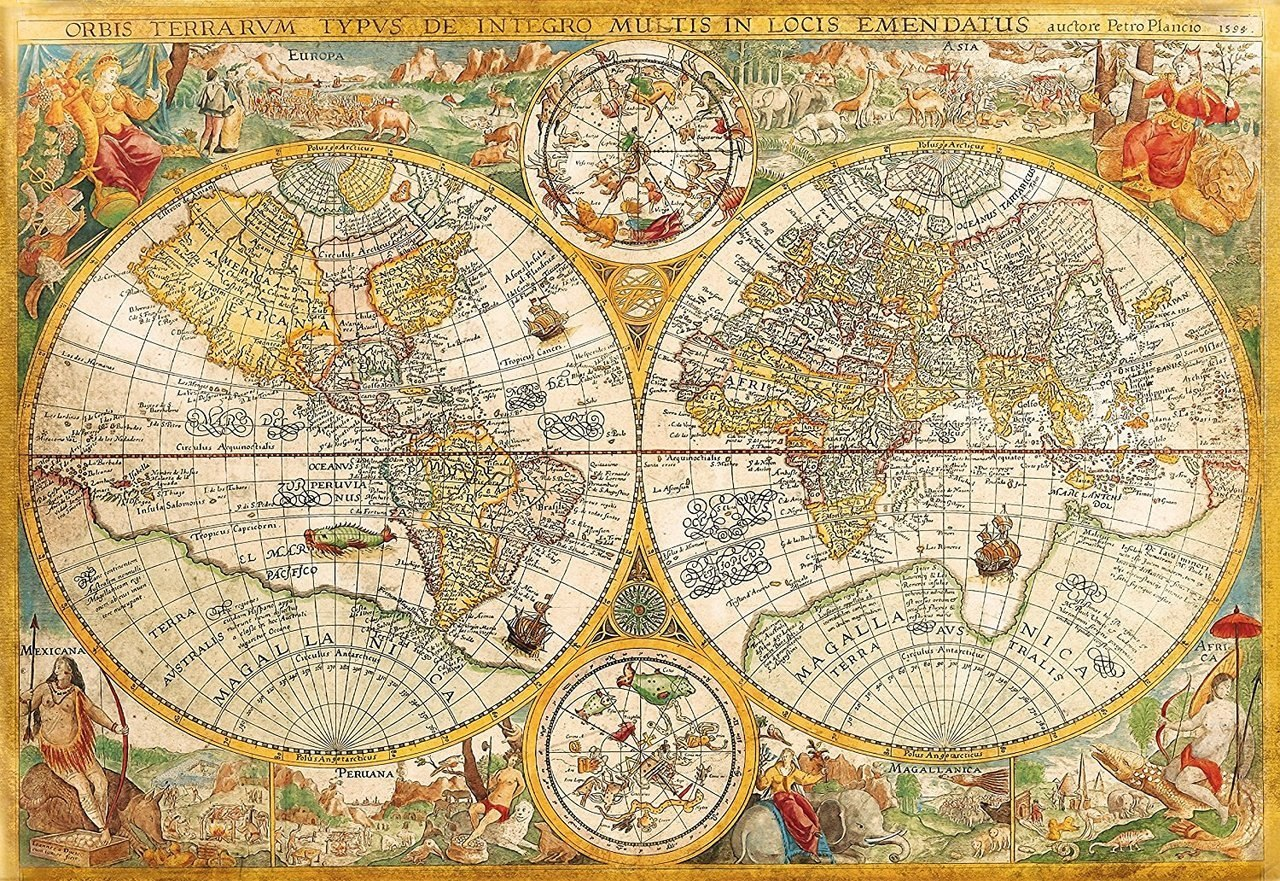 Ancient Map - 2000pc Jigsaw Puzzle by Clementoni