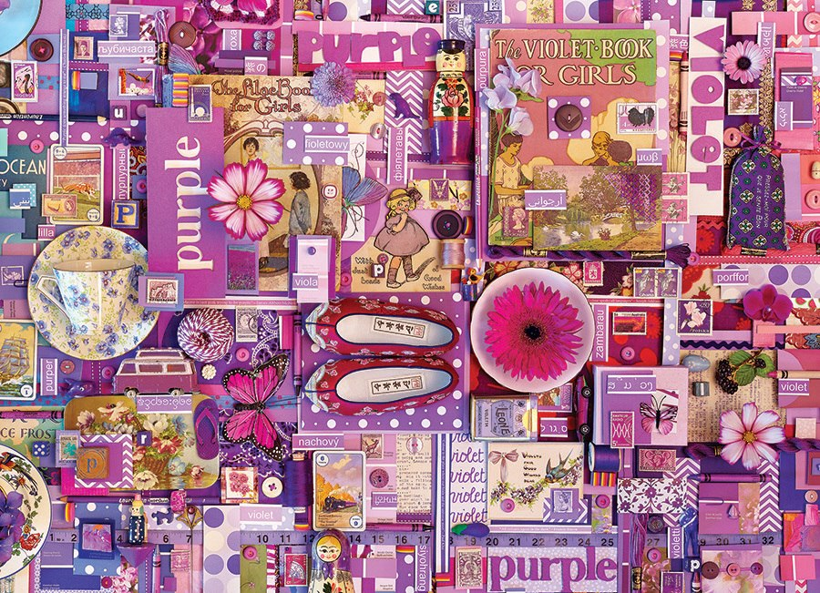 Rainbow Project: Purple - 1000pc Jigsaw Puzzle by Cobble Hill (discon-23377)
