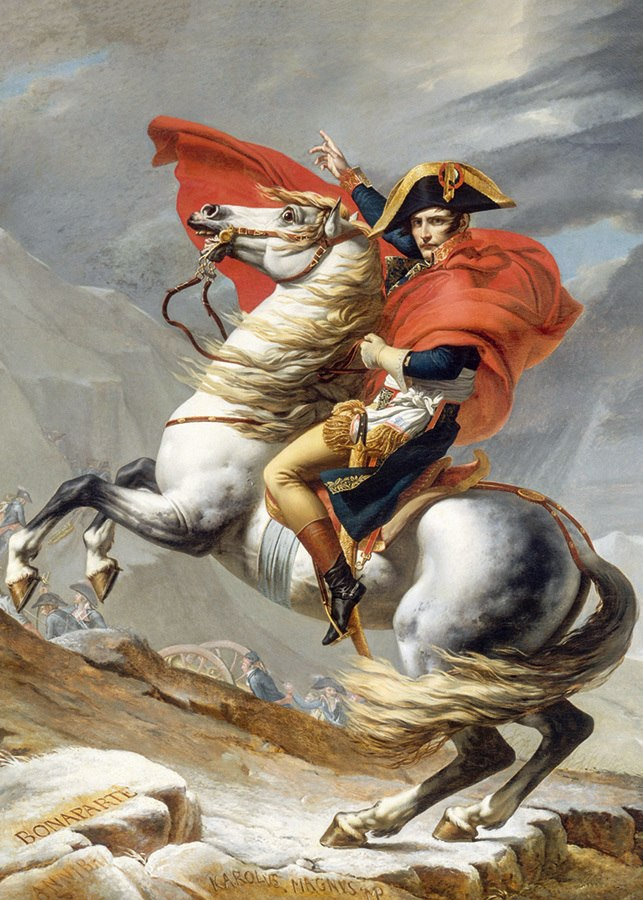 David: Napoleon Crossing the Alps - 1000pc Jigsaw Puzzle by D-Toys