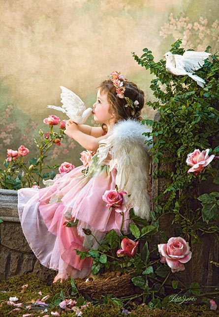 Angel Kisses - 1000pc Jigsaw Puzzle by Castorland