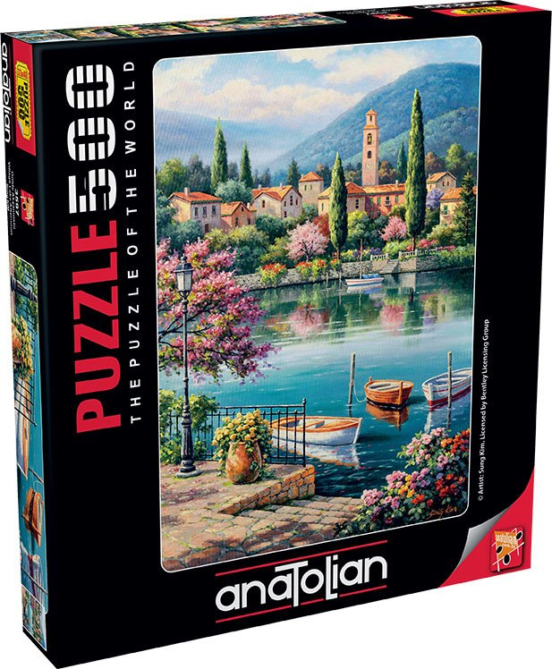 Village Lake Afternoon - 500pc Jigsaw Puzzle by Anatolian  			  					NEW - image 1