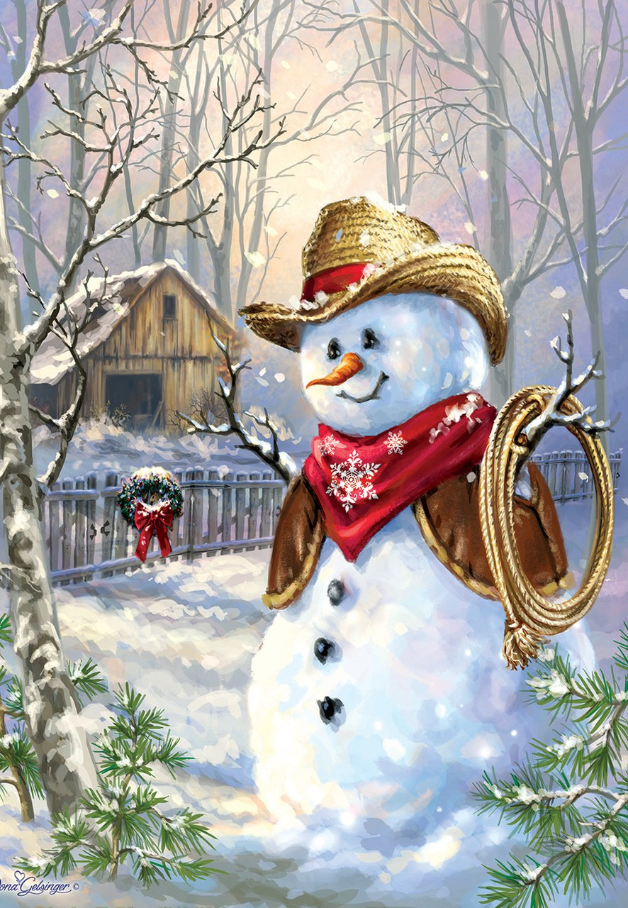 Cowboy in the snow - 100pc Jigsaw Puzzle by SunsOut