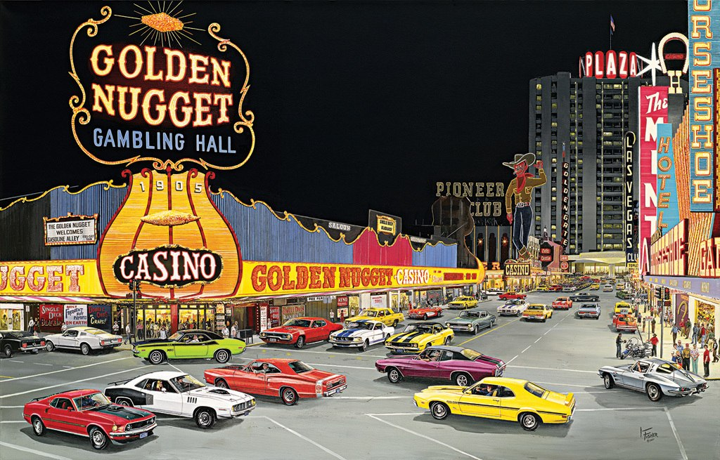 Cruise Night at Glitter Gultch - 1000pc Jigsaw Puzzle by SunsOut