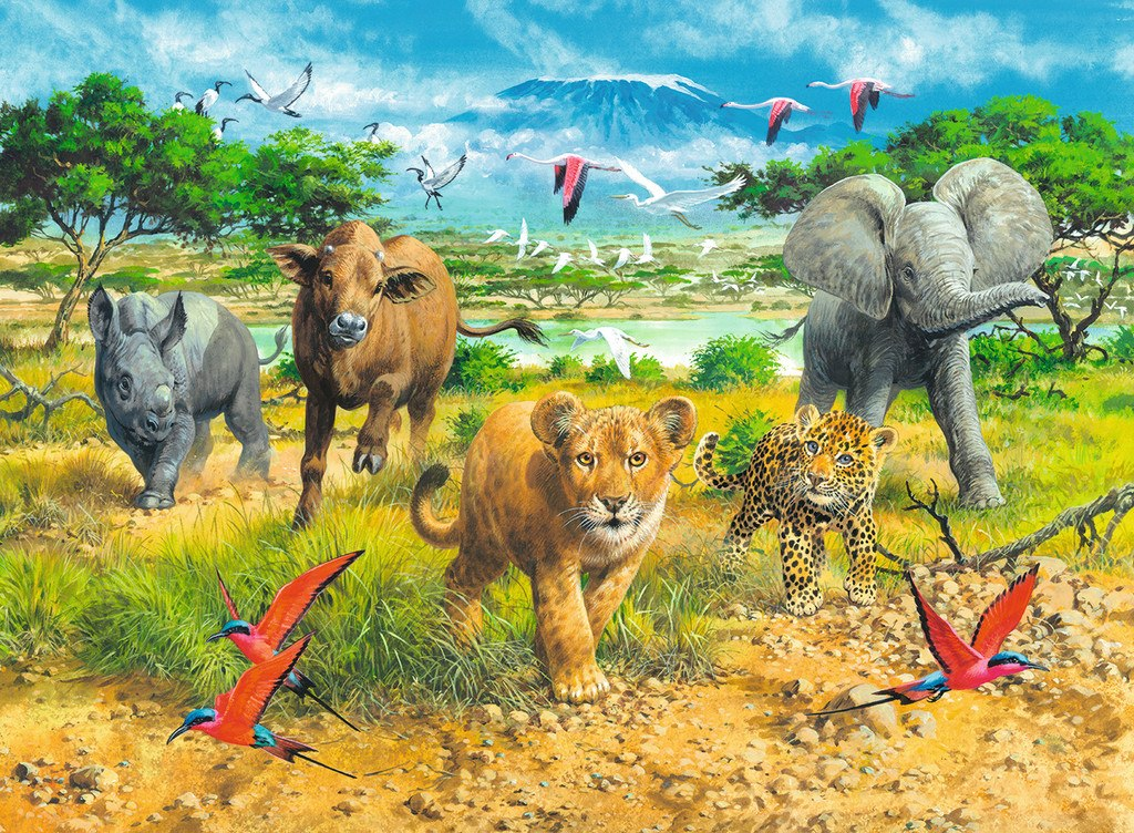 Big Five Babies - 300pc Jigsaw Puzzle By Ravensburger  			  					NEW