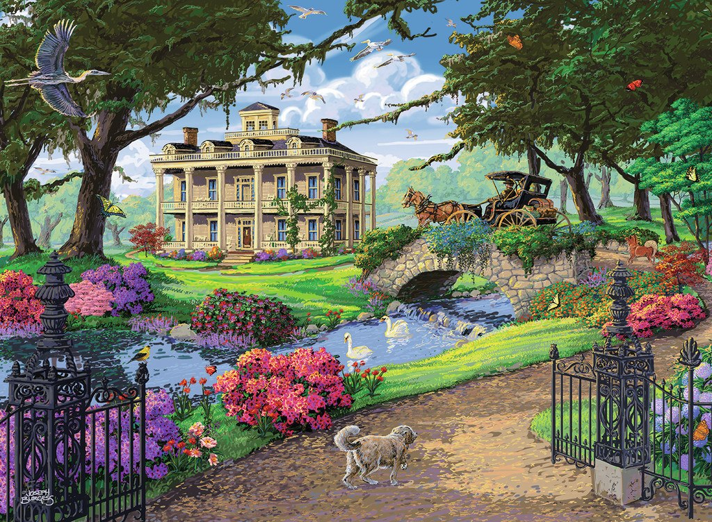 Visiting the Mansion - 500pc Jigsaw Puzzle by Ravensburger